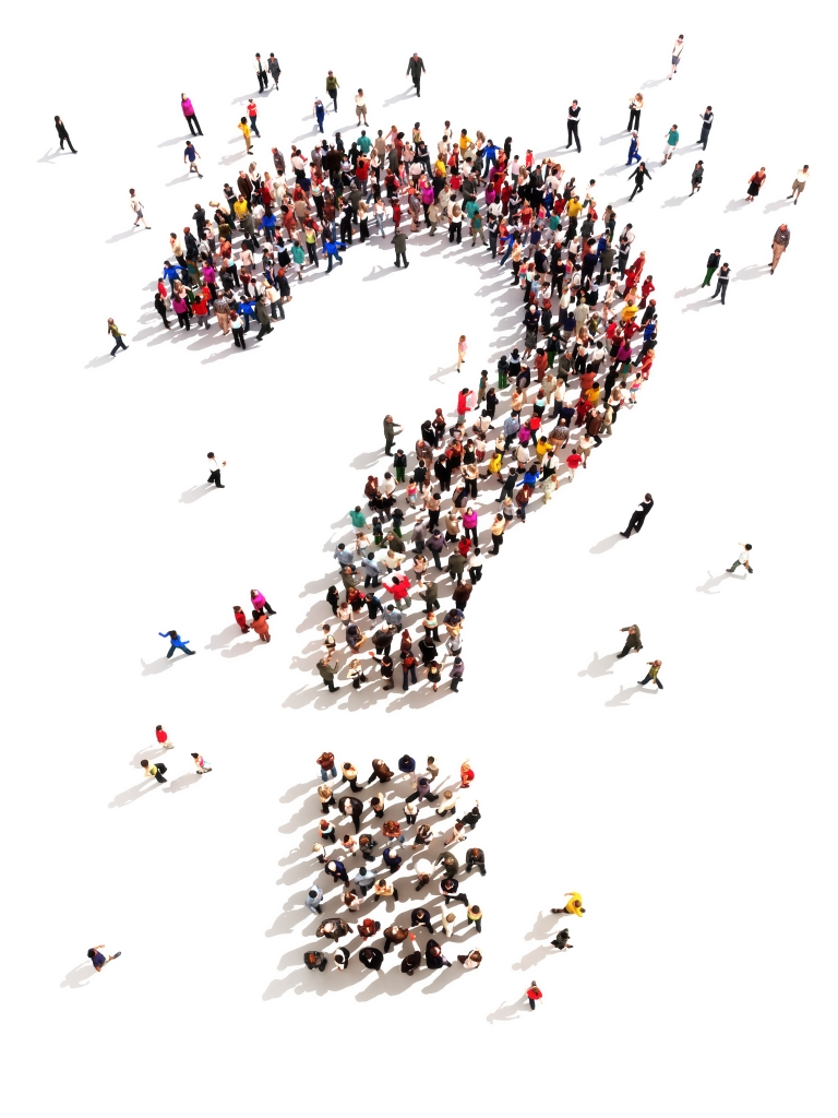 Information - Question Mark made of People