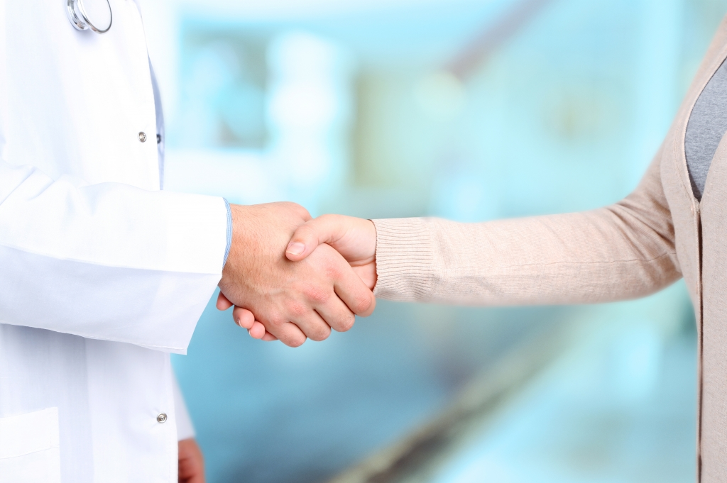 Duty of Care - doctor patient shaking hands